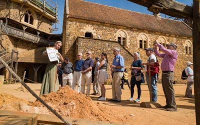 Visites et ateliers taille de pierre à Guédelon